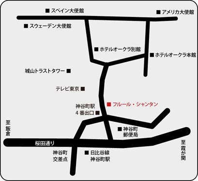フルール・シャンタン地図